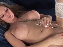 Delicious Tarah Whites Massive Pierced Tits Sexy Solo
