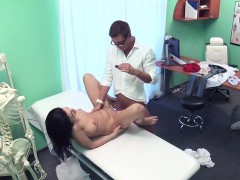 Natural Busty Babe Rides Doctors Dick