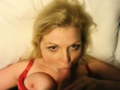 sweet blonde milf with huge boobs