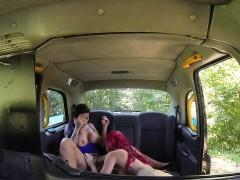 female fake taxi lesbian cab driver finger bangs tv babe