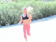 sydney-hot-porn-solo-blonde-gym-work-topless