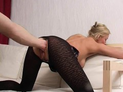 Blindfolded Blonde Pussy Fisted Deep