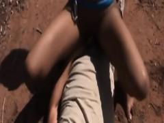 african-slave-riding-white-schlong-outdoors