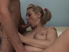Pretty Blonde Mom And Stepson Gets Horny Over Porn