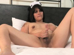 maid-lingeried-femboy-pulling-her-cock-solo