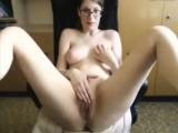 Busty MILF masturbates on webcam