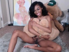 small-breasted-ebony-teen-gagging-on-a-white-dick