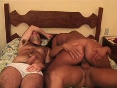 Gangbang On A Big Titted Brunette