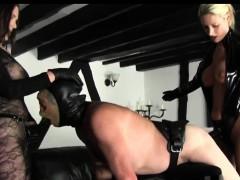 strapon-beauties-smashes-bondaged-male-slave