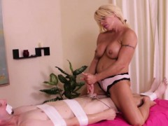 Mature Masseuse Gives Handjob In Cbt Action