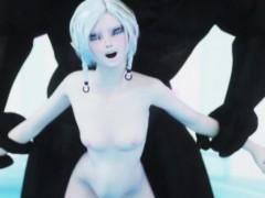 3d ogre bangs a skinny woman elf!
