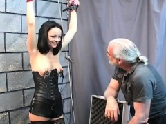 hawt female penetrated and stimulated in bizarre servitude