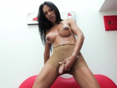 bigtitted-latina-shemale-tugging-her-dick