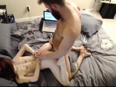 redhead-girlfriend-facial-after-doggystyle