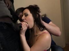 Brunette Wife Lena Dark Black Cock In Ass