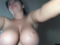 hot-brunette-big-boobs-fucks-big-black-dildo
