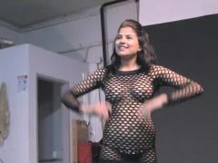 Indian Porn Video Sexy College Girl Natasha Fishnet