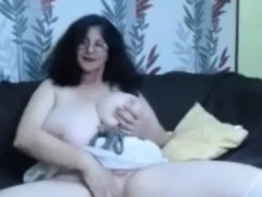 Hot Busty Granny Showing Her Huge Tits In Front Of Webcam