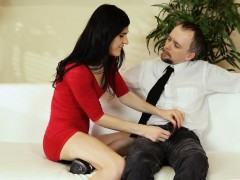Skinny Shemale Stefani Special Anal Screwed On The Couch