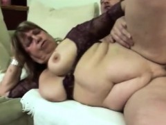 Fat granny sucking dick and getting laid