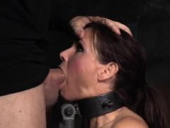 Bdsm Milf Deepthroating Dicks In Threesome