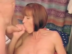 milf with melon tits takes jizz in her mouth