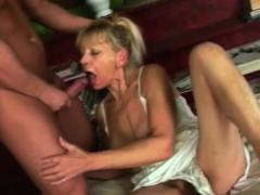 Older Blonde Manhandles A Big Cock Properly