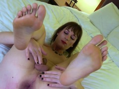 Asstoying Femboy Tugging Her Cock