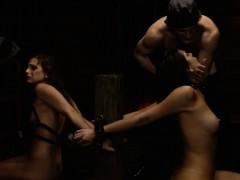 girl-on-bondage-gagged-and-brunette-brutal-dildo-xxx
