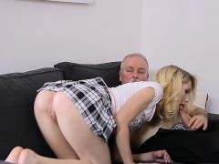 Moist Young Babe Enjoys Getting Old Ramrod In Pussy