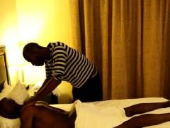 Analized Ebony Hunk Enjoys Nipple Play