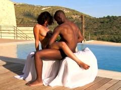 ebony babe enjoys love making to his lover