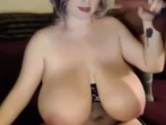 Sexy Busty Bbw Sucking Big Fat Cock On Webcam