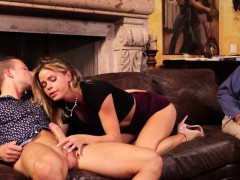 cuckold husband watches wifes vagina get destroyed