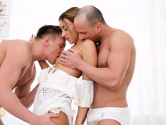 katrin is ready for her personal all-white home sex party WWW.ONSEXO.COM
