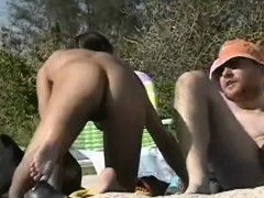 Two Hot Candid Beach Babes Naked In The Sun