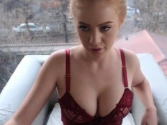 Sexy Ginger Camslut Fingers Tiny Pink Kitty