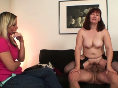 Wife watches her old mom rides his cock