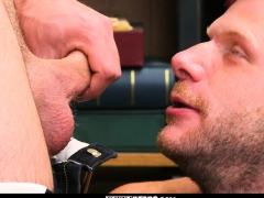Shoplifting Stud Takes Cock Up His Ass And Down His Throat