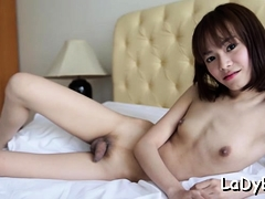 Oriental Lady-man Gets Anal Pushed