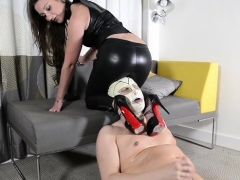 European Slave Femdom And Cum Eating