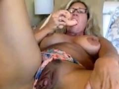 Granny Goes Hardcore Solo On Webcam