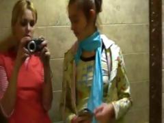 naked german woman on disco toilet
