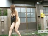 Subtitled Japanese nudists engage in National Nude Day