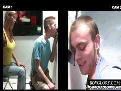 Straight And Gay Bj On Gloryhole