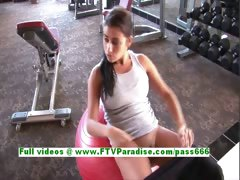 Alexa Loren Angelic Busty Brunette Works Out And Flashing