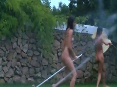 russian-teens-watersports-in-the-garden