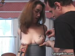 Kinky Dude Tied Sexy Brunette Kylie Part2