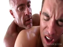 Ass Craving Gay Masseur Having Anal Sex On His Table