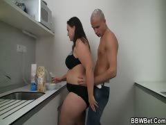 cooking-bbw-enjoys-riding-his-meat
